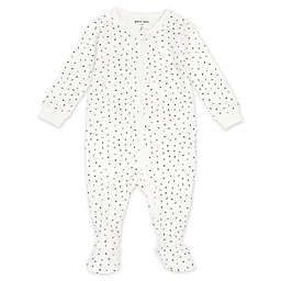 Petit Lem® Newborn Numbers Organic Cotton Footie in Ivory