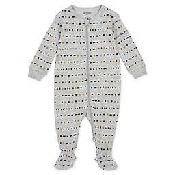 Petit Lem® Size 6M Geo Organic Cotton Footie in Grey