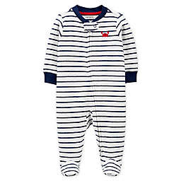 carter's® Size 6M Zip-Front Crab Sleep & Play Footie