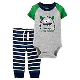 carter's® 2-Piece Monster Bodysuit and Pant Set in Heather