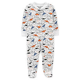 carter's® Size 3M Dinosaur 2-Way Zip Sleep & Play Footie in Ivory
