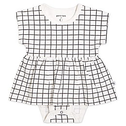 Petit Lem® Windowpane Bodysuit Dress in Black/White