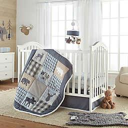 Levtex Baby® Logan 4-Piece Crib Bedding Set in Navy/Taupe