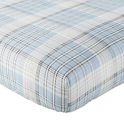 Levtex Baby® Logan Plaid Fitted Crib Sheet in Blue
