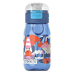 Zoku® Flip Gulp 16 oz. Water Bottle in Blue