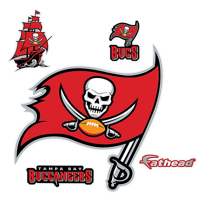 Red NFL Tampa Bay Buccaneers Home State Automotive Decal 5