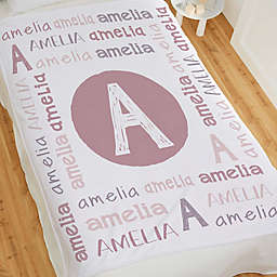 Youthful Name Personalized Fleece Baby Blanket Collection