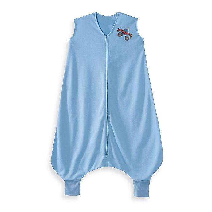 Alternate image 1 for HALO® SleepSack® Lightweight Knit Big Kids Wearable Blanket in Blue Truck