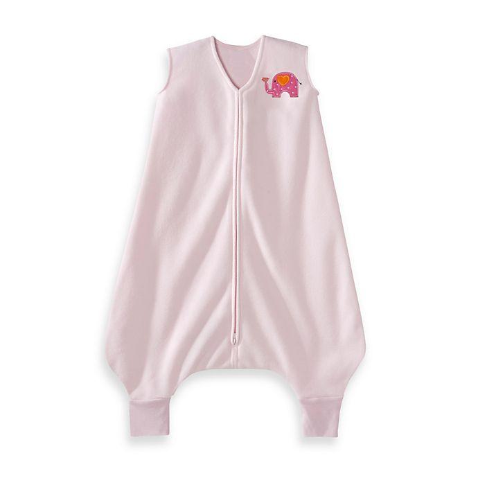 Alternate image 1 for HALO® SleepSack® Micro-Fleece Big Kids Wearable Blanket in Pink Elephant