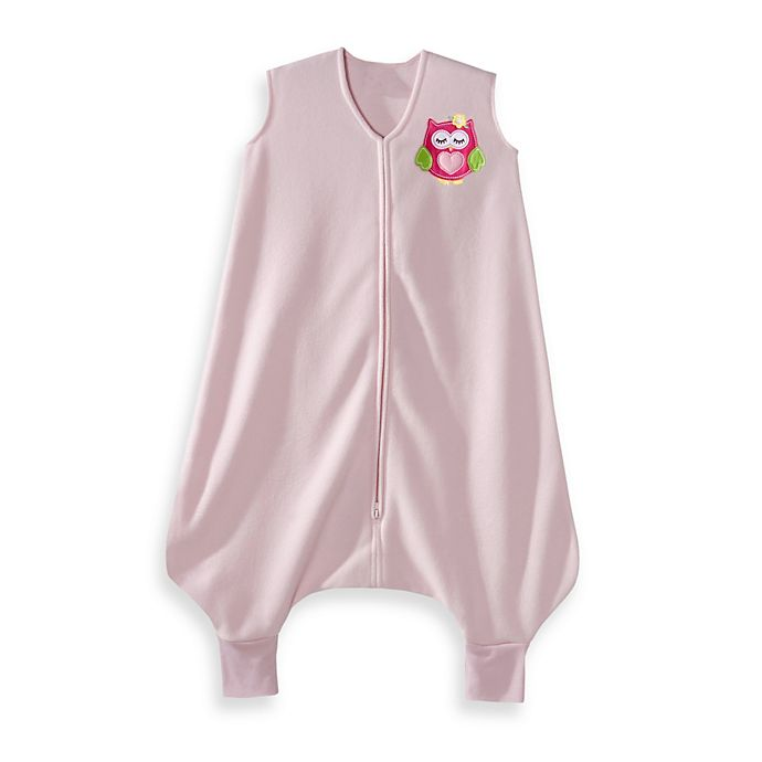 Alternate image 1 for HALO® SleepSack® Early Walker Microfleece in Pink Owl