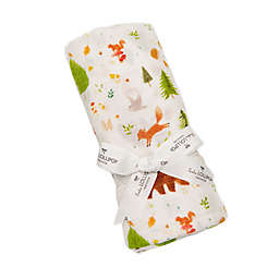 Loulou Lollipop Forest Friends Swaddle Blanket