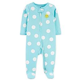 carters® Sun Polka Dot 2-Way Zip Sleep & Play in Blue
