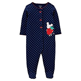 carters® Mouse Snap-Up Sleep & Play in Navy