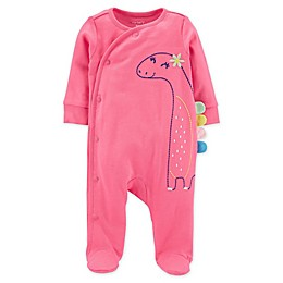 carters® Dinosaur Snap-Up Sleep & Play in Pink