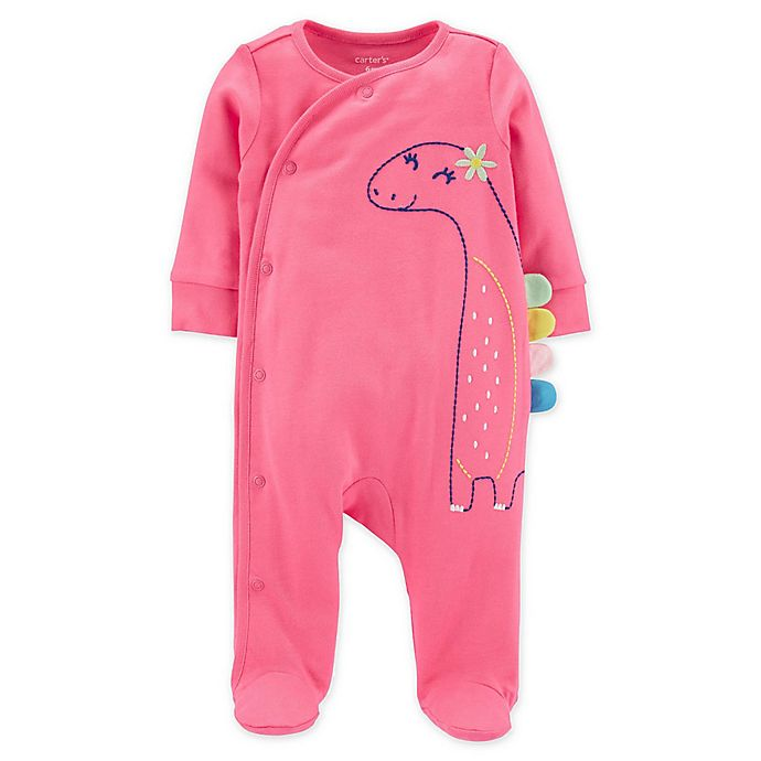 Alternate image 1 for carters® Size 6M Dinosaur Snap-Up Sleep & Play in Pink