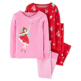 carter's® 4-Piece Fairy Pajama Top and Pant Set in Pink