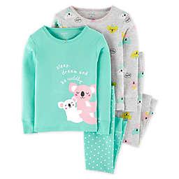 carter's® 4-Piece Koalas Pajama Top and Pant Set in Mint