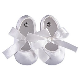 Carriage Boutique™ Satin Christening Shoe in White