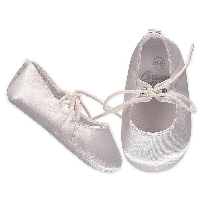 Alternate image 1 for Carriage Boutique™ Boys Satin Christening Shoe in White