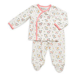 Bestaroo™ Newborn 3-Piece Birds and the Bees Shirt, Footed Pant, and Hat Set in White/Pink