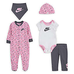 Nike® 5-Piece Polka Dot Layette Set in Pink