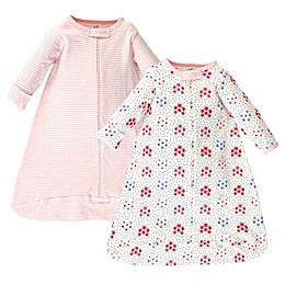 Touched by Nature 2-Pack Organic Cotton Floral Dot Sleeping Bags in Pink