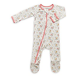 Bestaroo™ Birds and the Bees Footed Coverall in White/Pink