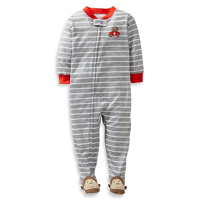 Carters Baby Boys Striped Footie-Monkey