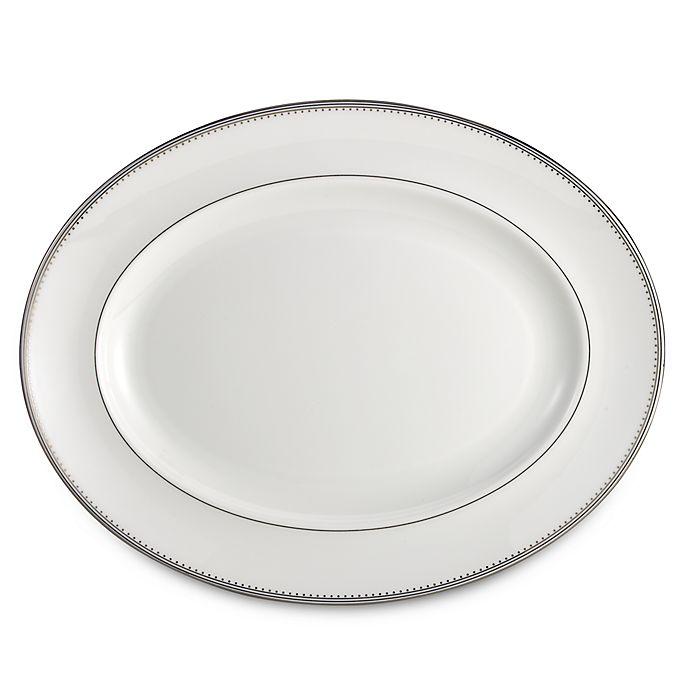 Alternate image 1 for Vera Wang Wedgwood® Grosgrain 13.75-Inch Oval Platter