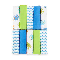 Just Bath by Just Born™ Love to Bathe 10-Pack Crab Washcloth in Blue/Green