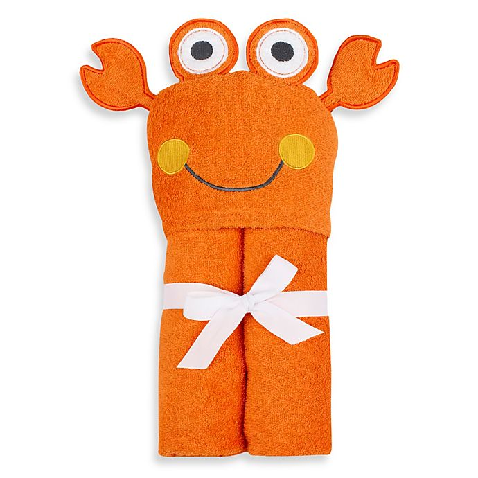 Alternate image 1 for Just Bath by Just Born™ Love to Bathe Crab Hooded Towel in Orange