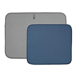 The Original™2-Pack Dish Drying Mat in Grey/Blue