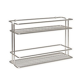 Spectrum Stainless Steel Wall-Mount Spice Rack in Satin Nickel