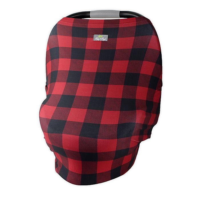 Alternate image 1 for Itzy Ritzy® Mom Boss 4-in-1 Multi-Use Cover in Buffalo Plaid