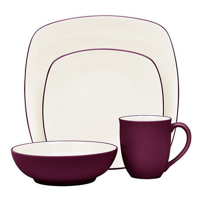 Alternate image 1 for Noritake® Colorwave Square 4-Piece Place Setting