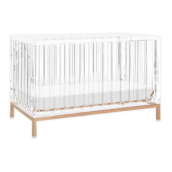 Alternate image 1 for Nursery Works™ Acrylic Luma Crib in Rose Gold