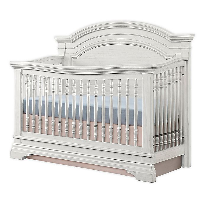 Alternate image 1 for Westwood Design Olivia Arch Top 4-in1 Convertible Crib in Brushed White