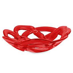 Kosta Boda Small Basket Bowl in Red