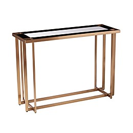 Magdalere Mirrored Console Table in Gold