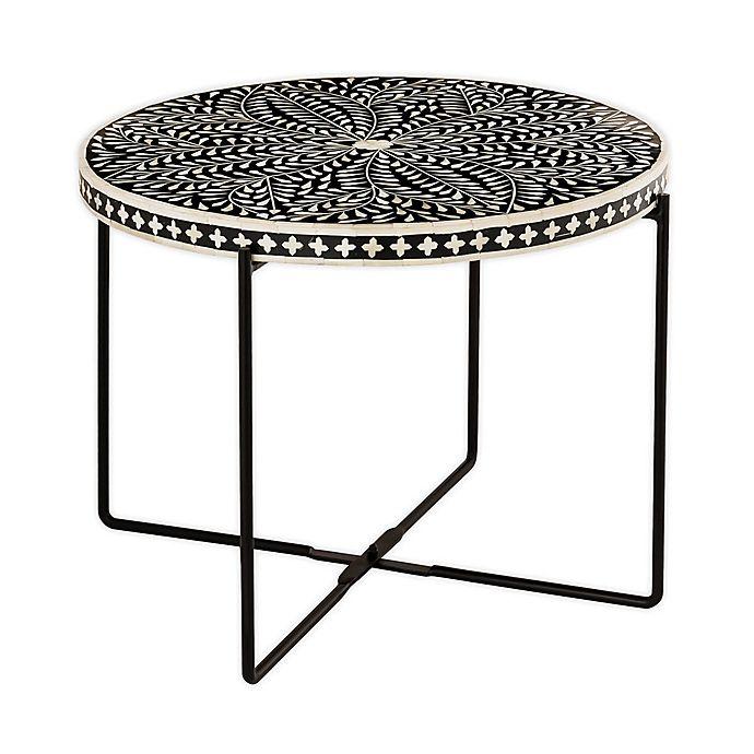 Tov Furniture Regina Bone Inlay 24 Inch, 24 Inch Round Table