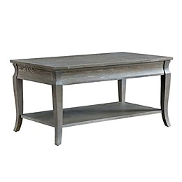 Leick Home Luna Coffee Table in Grey Wash