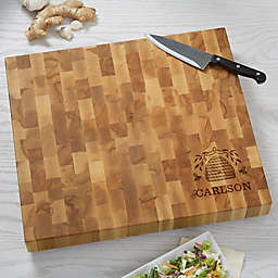 Bee & Willow™ Home Beehive Personalized Butcher Block Cutting Board