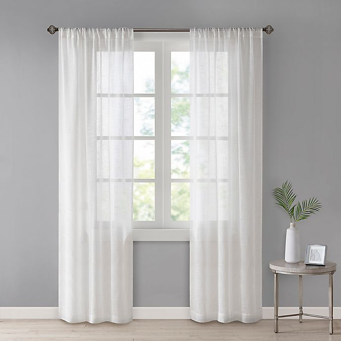 Alternate image 1 for SALT®Westwood 2-Pack Rod Pocket Sheer Window Curtain Panels in Ivory