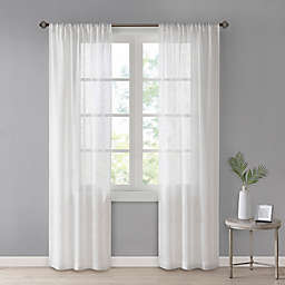 SALT®Westwood 2-Pack Rod Pocket Sheer Window Curtain Panels in Ivory