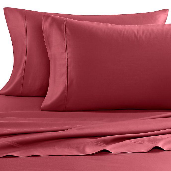 Alternate image 1 for Eucalyptus Origins™ Tencel® Lyocell 600-Thread-Count King Pillowcases in Red (Set of 2)
