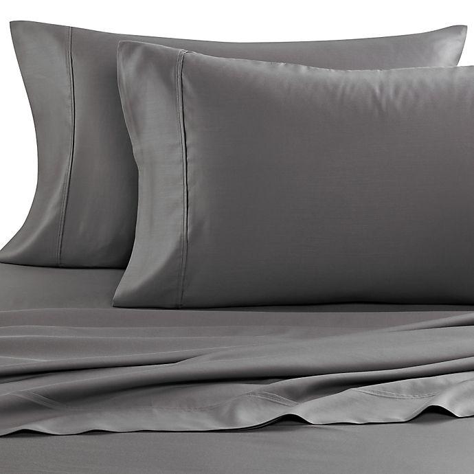 Alternate image 1 for Eucalyptus Origins™ Tencel® Lyocell 600-Thread-Count King Pillowcases in Grey (Set of 2)