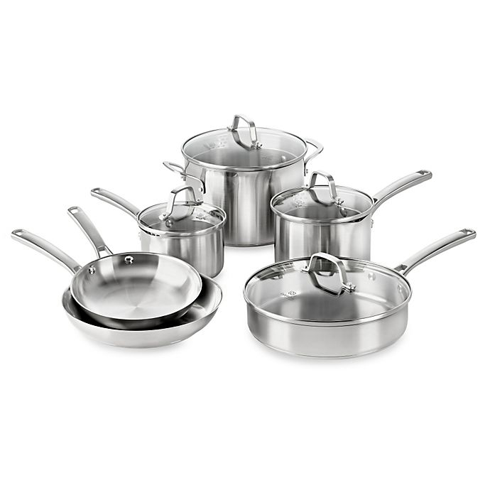 Alternate image 1 for Calphalon® Classic Stainless Steel 10-Piece Cookware Set