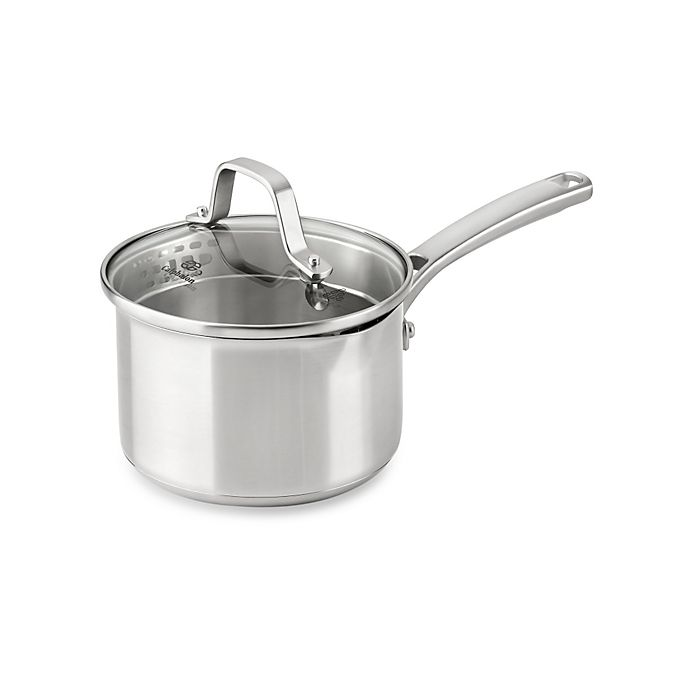 Alternate image 1 for Calphalon® Classic Stainless Steel 1.5 qt. Covered Saucepan