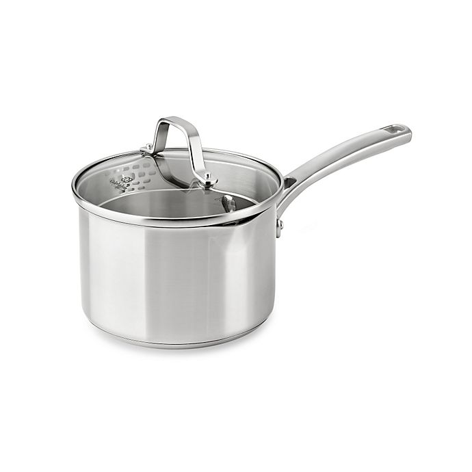 Alternate image 1 for Calphalon® Classic Stainless Steel 2.5 qt. Covered Sauce Pan