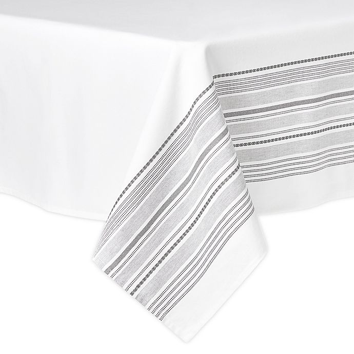 Alternate image 1 for Artisanal Kitchen Supply® Ashbury Tablecloth in White